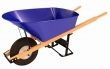 Bon Tool 11-300 Barrow - Steel 6 Cu Ft Tray -Single Knobby Tire Wood Handle
