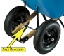 Jackson Contractor Wheelbarrow Replacement Dual Wheel Axle Brackets (Pair)